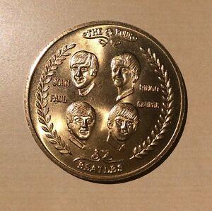 Beatles-1964-Visit-to-USA-John-Ringo-Paul-George-BU-MINT-VINTAGE-MEDALLION