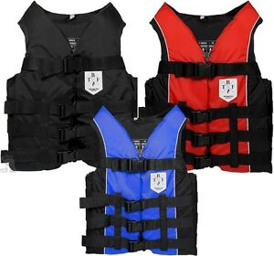 FLY-ADULT-50n-BUOYANCY-AID-life-Jacket-ski-kayak-canoe-PFD-vest-BLACK-RED-TBF
