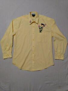 Las-Olas-yellow-women-039-s-button-down-shirt-size-M