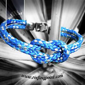 Nautical-Reef-Knot-Rope-bracelet-Reefing-Point-Bollard-Blue