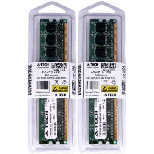 4GB KIT 2 x 2GB Dell Inspiron 560 560s 570 580 580s I580 PC3-8500 Ram Memory