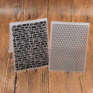 Praegefolder-Embossing-Folder-Template-DIY-Bienenwabe-Mauer-Praegeschablone-Hobby