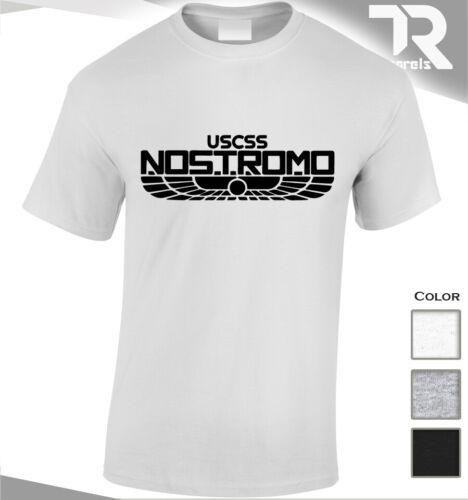 NOSTROMO T-SHIRT ALIEN USCSS WEYLAND YUTANI COVENANT PROMETHUS NASA UFO AREA 51