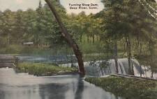 Antique POSTCARD c1920 Turning Shop Dam DEEP RIVER, CT 16585