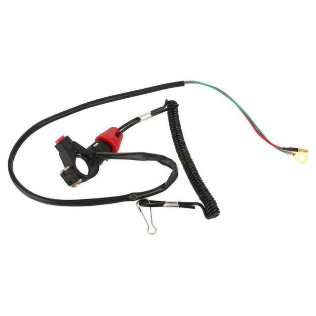 Hot ATV Engine Stop Kill Tether Switch Lanyard 12V Waterproof for Outboard Motor