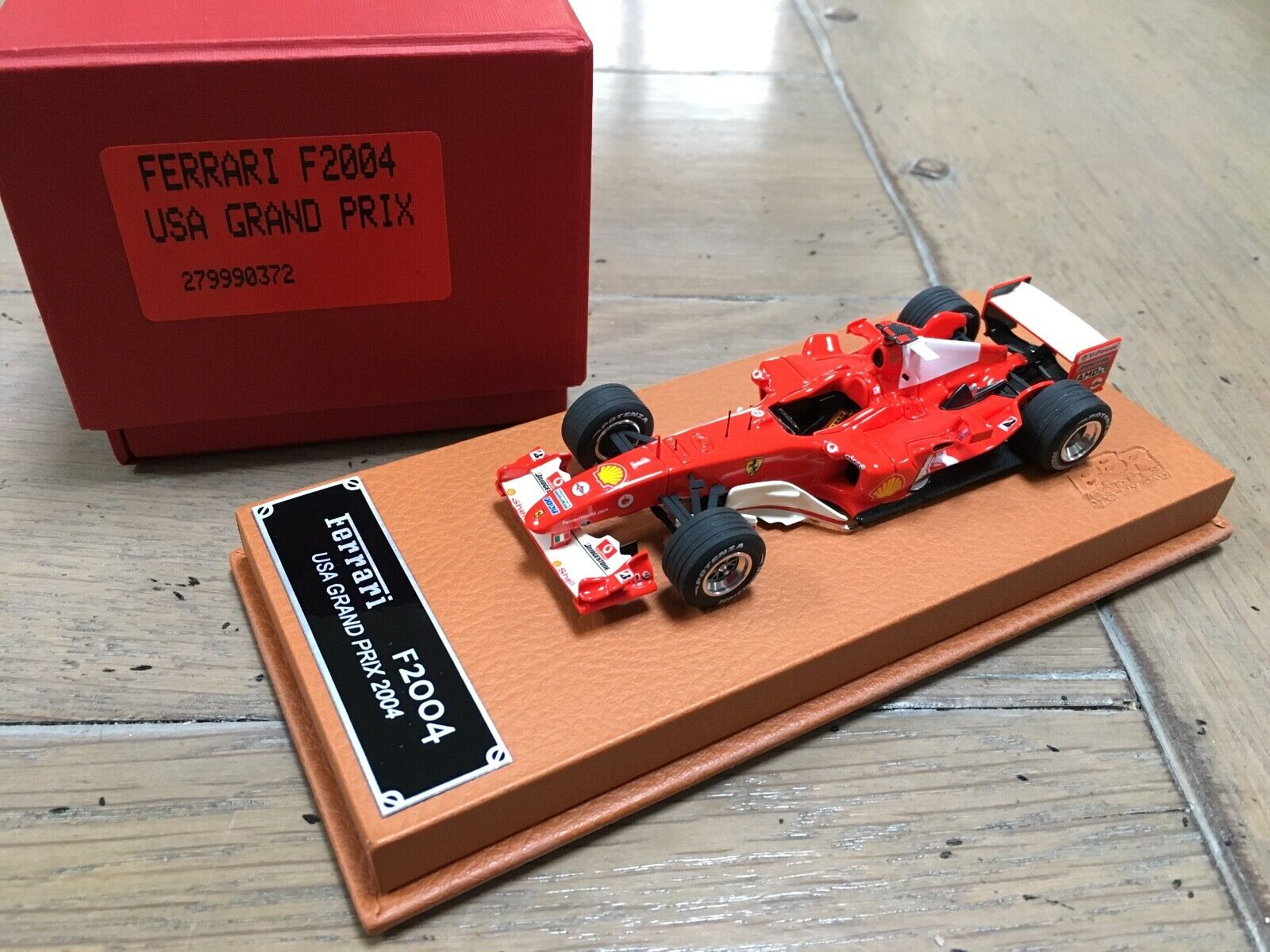 Bbr idea ferrari f2004 f1 schumacher usa gp 2004 rare 1 43 schedoni base