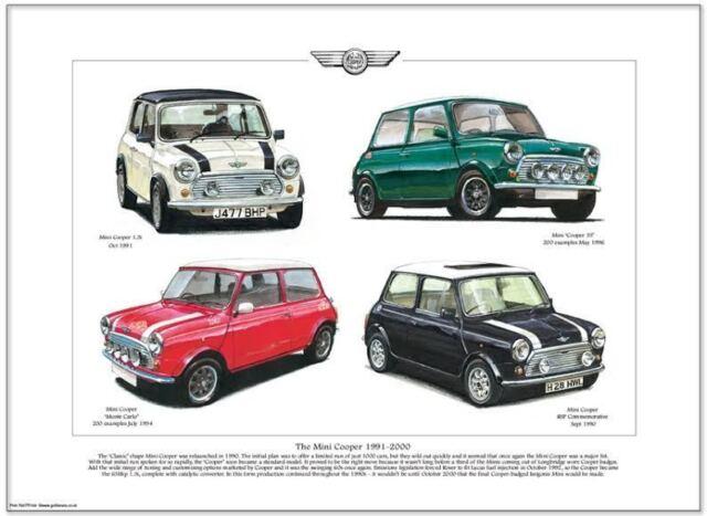 The Mini Cooper 1991-2000 - Art Print A3 Size