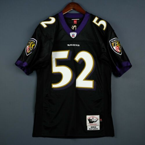 100% Original Ray Lewis Mitchell & Ness 2004 Ravens NFL Maillot Size 44 LARGEUR
