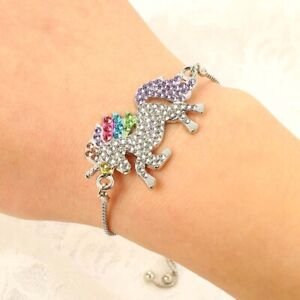 1Pc-Unicorn-Horse-Crystal-Charm-Pendant-Adjustable-Chain-Bracelet-amp-Bangle-Jewelry