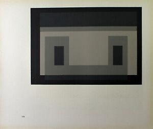 Josef Albers-Variation un argomento I. unsignierter farbsieb pressione (1968).