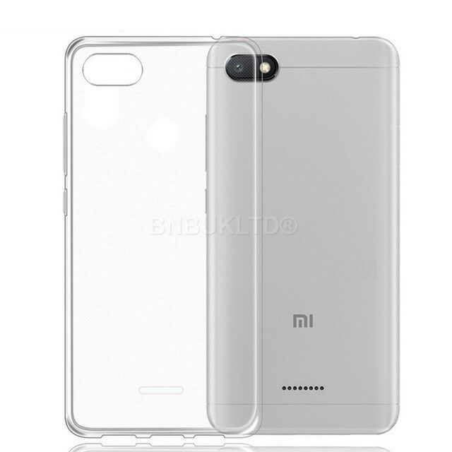 los angeles c57ae fc752 for XIAOMI REDMI 6a Case Clear Slim GEL Cover & Glass Screen Protector