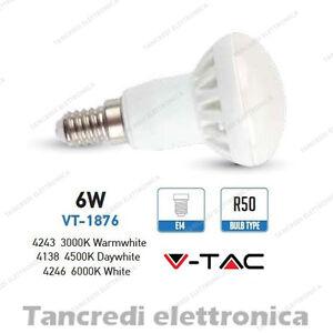 Lampadina-led-V-TAC-6W-40W-E14-VT-1876-R50-faretto-spot-bulb-reflector-lampada