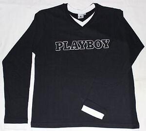 PLAYBOY-Longsleeve-Jude-Herren-Langarm-Shirt-Gr-M-Pullover-TwinSet-Optik
