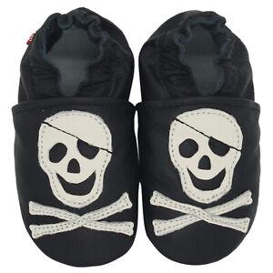 carozoo argyle black 3-4y soft sole leather toddler shoes