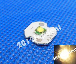 10pcs Cree XP-G XPG R5 5w Warm White 3000k LED Emitter chip With 20mm star Base