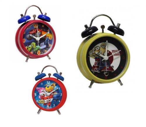 Super Wings Childrens Gift Stocking Filler Small Alarm Clock Minions Blaze