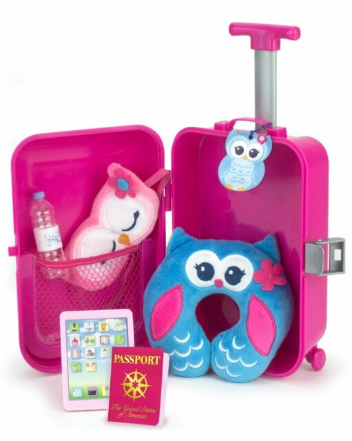 88e5c9105f Doll Travel Play Set by Sophia's 7 Piece Doll Accessory Luggage Set for your