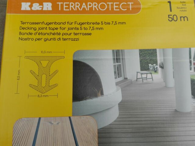 Terraprotect,Terrassenfugenband, Dichtung, 50 m Rolle