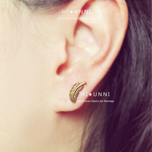 Details About 16g Feather Cartilage Earring Helix Conch Tragus Piercing Earring Jewelry 1pc