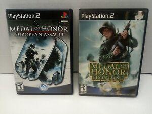 Medal-of-Honor-Frontline-amp-European-Assault-PS2-Bundle-Lot-PlayStation-2-2002