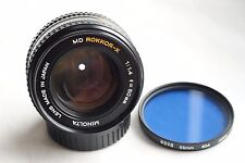 MINOLTA MD ROKKOR-X 50mm f1.4 for mirrorles cameras JAPAN EXC but light fungus