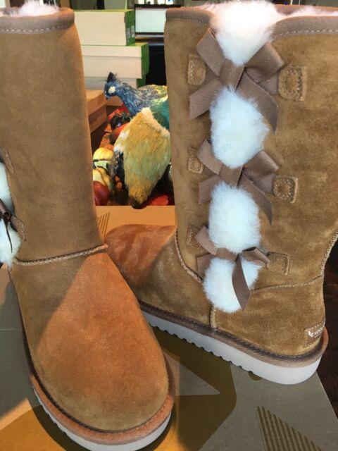 e65ca93a930 Koolaburra By UGG Victoria Tall Winter Boots size 6 Chestnut 1015875W New W  Box