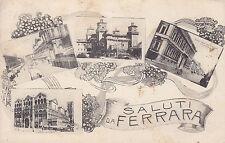 8509) SALUTI DA FERRARA 4 VEDUTINE.