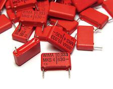 40x WIMA afta epizootica 4 condensatore, 0.033 µF/630 VDC, Tube Amp capacitors, NOS