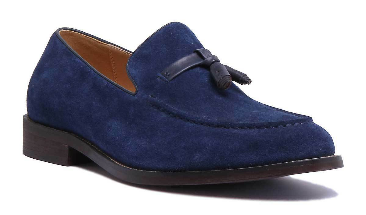 Justin Reece Tony Mens Navy Suede Leather Sho Size UK 6 -12