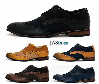 Mens Lace Up Smart Office Wedding Shoes Italian Dress Work Casual Formal Style