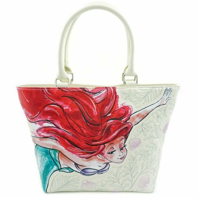 Loungefly Disney The Little Mermaid Ariel Watercolor Tote Bag Purse Wdtb1584