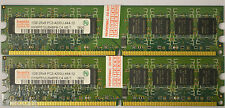 2 GB 2X1GB DDR 2 DDR2 PC2-4200 U DDR2-533 MHZ MEMORY 240 PIN DIMM RAM PC NON-ECC