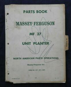 1967-Massey-Ferguson-Mf-37-Unita-Fioriera-Parti-Catalogo-Manuale-Molto-Buono-A
