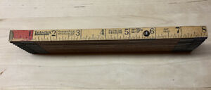 Antique-1925-Interlox-Master-Slide-Wood-and-Brass-Ruler-No-106-Made-In-New-York