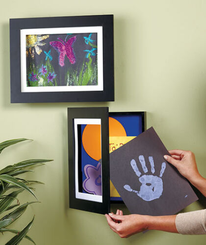 """Kids Easy Change Artwork Picture Frame 8-1//2/"""" x 11/"""" or 9/"""" x 12/"""" Drawing Art Wall"""