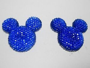 20-Royal-Blue-Acrylic-Flatback-Rhinestone-Mouse-Gems-30mm-Flat-Back-Resin