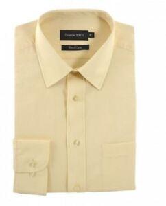 Double Two Classic En Coton Mélangé Shirt à Manches Longues En Crème-afficher Le Titre D'origine