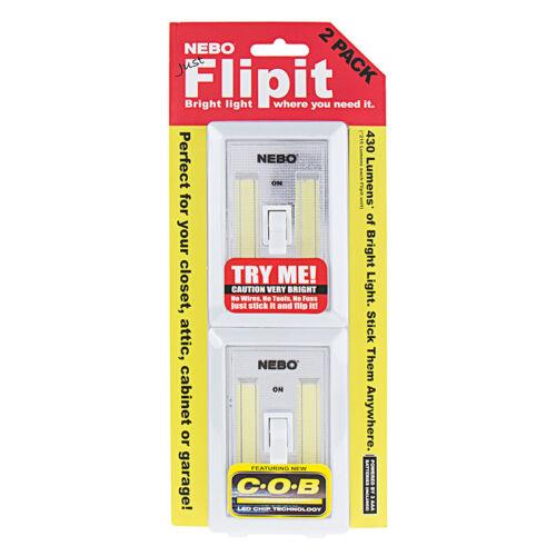 Nebo Flipit 6523 2 Pack 215 Lumen COB LED Universal Mount Work Light Switch