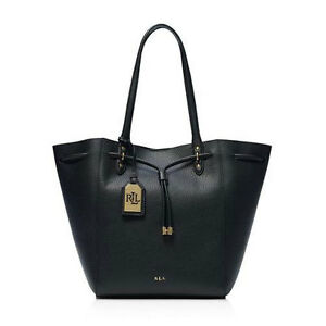 Authentic-Ralph-Lauren-Oxford-Leather-Tote-Black-Brand-New-Agsbeagle-COD-Paypal
