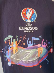 UEFA-Euro-2016-FRANCE-T-Shirt-Soccer-Football-World-Cup-Women-039-s-Navy-Blue-tee-XL