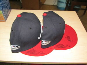 Mike Soroka A.J. Minter Touki Toussaint AUTOGRAPHED BASEBALL HAT Atlanta Braves