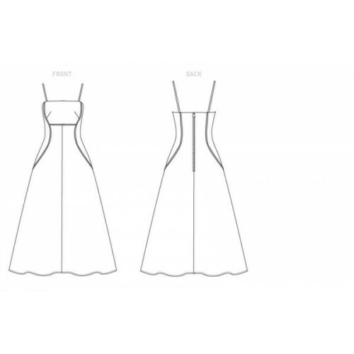 Vogue Sewing Pattern V1626 Women/'s Special Occasion Fit and Flare Dress