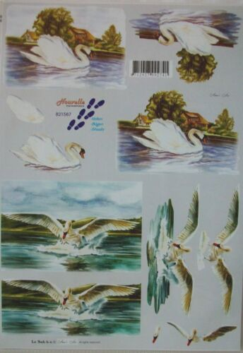 Birds Swan,Penguin,Eagle,Puffin,Gull,Finch etc 2*Non-die-cut Le Suh Decoupage