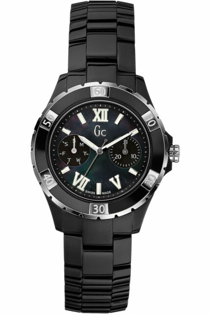 08580730a NEW Guess X69002L2S Ceramic Band Ladies Sports Class XLS Glam Watch $700