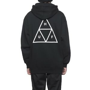 HUF-TRIPLE-TRIANGLE-PULLOVER-HOODIE-BLACK