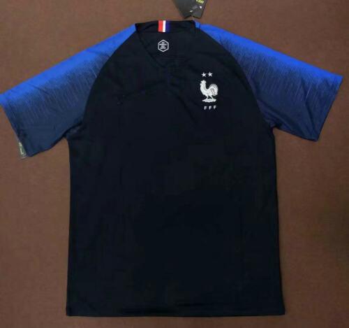France Men Jersey Home Soccer T-shirt FIFA Champion 2Stars  Short//Long Sleeve