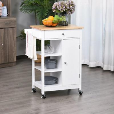 Small Kitchen Trolley Butchers Block Island Storage Cupboard Cart Shelves Unit 7444026518522 Ebay