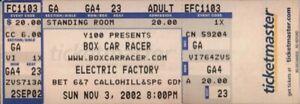 BOX-CAR-RACER-2002-TOUR-UNUSED-ELECTRIC-FACTORY-CONCERT-TICKET-BLINK-182