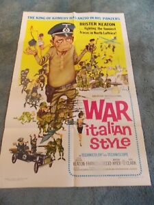 WAR-ITALIAN-STYLE-1966-BUSTER-KEATON-ORIGINAL-ONE-SHEET-POSTER-27-034-BY41-034
