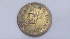 Birmingham Smithfield Market Token, J. V. White & Co. Ltd. Two Shillings 2/-